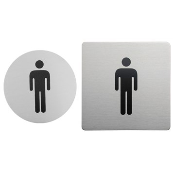 Urban Steel Brushed Stainless Steel Male Sign - Round or Square