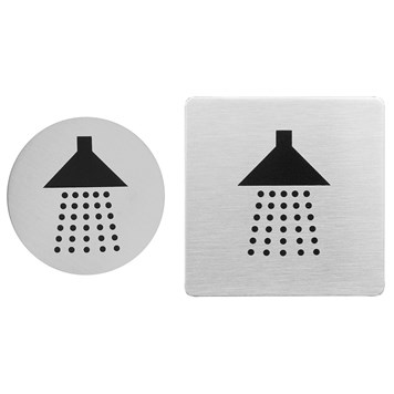 Urban Steel Brushed Stainless Steel Shower Sign - Round or Square