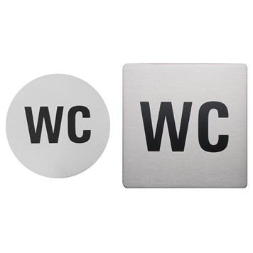 Urban Steel Brushed Stainless Steel WC Sign - Round or Square