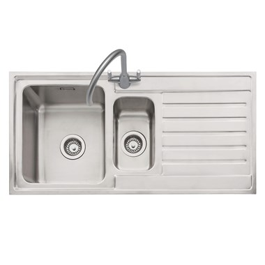 Caple Vanga 1.5 Bowl Satin Stainless Steel Sink & Waste Kit - 1000 x 500mm
