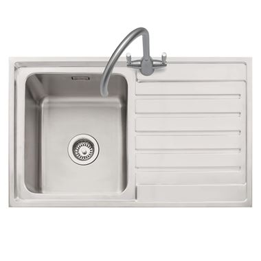 Caple Vanga 1 Bowl Satin Stainless Steel Sink & Waste Kit - 800 x 500mm