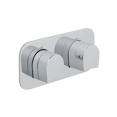 Vado Kovera Horizontal Concealed Thermostatic Shower Valve with 2 Outlets
