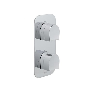 Vado Kovera Vertical Concealed Thermostatic Shower Valve with 2 Outlets
