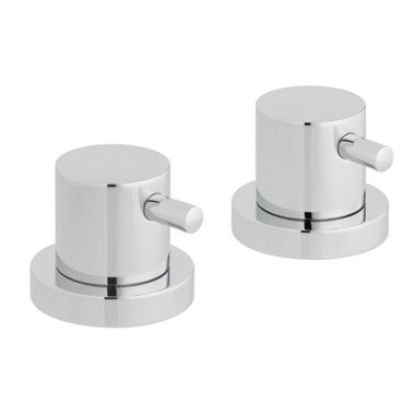 "Vado Zoo Pair Of Deck Mounted Stop Valves (3/4"")"