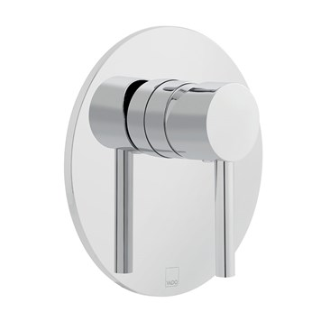 Vado Zoo Wall Mounted Single Lever Concealed Manual Shower Valve - Round Plate