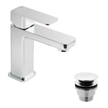 Vado Phase Single Lever Mono Basin Mixer with Clicker Waste
