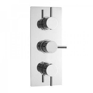 Valquest Minimalist Triple Lever Thermostatic Concealed  Shower Valve with 3-Way Diverter