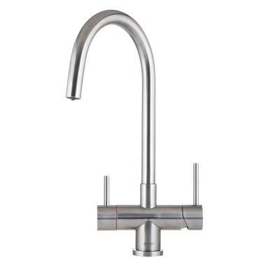 Caple Vapos 3-in-1 WRAS Approved Instant Hot Water Tap with Boiler Unit & Filter - Stainless Steel
