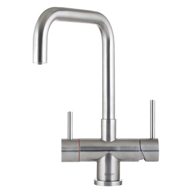 Caple Vapos Quad 3-in-1 WRAS Approved Instant Hot Water Tap with Boiler Unit & Filter - Stainless Steel
