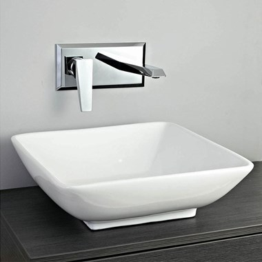 Phoenix White Ceramic Countertop Basin