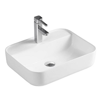 Drench Sophia Rectangular 1 Tap Hole Countertop Basin - 500 x 395mm