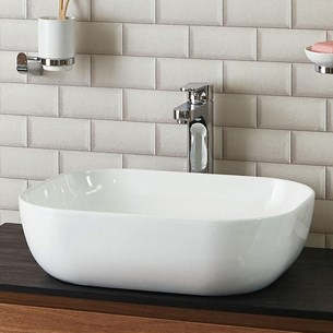 Phoenix Rectangular Ceramic Countertop Basin
