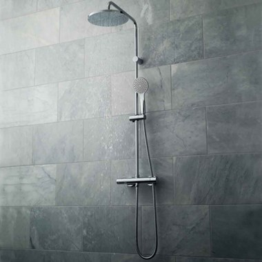 Vado Velo Thermostatic Shower Valve with Diverter & Rigid Riser Kit