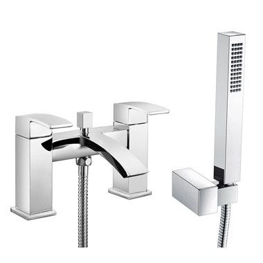 Vellamo City Waterfall Bath Shower Mixer with Shower Attachment