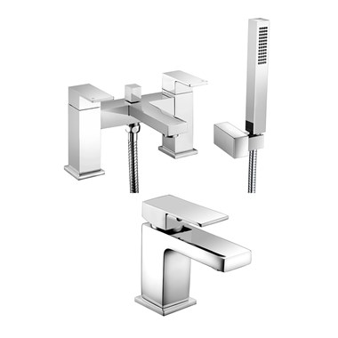 Vellamo Aspire Basin Mixer & Bath Shower Mixer Pack