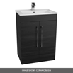 Vellamo Aspire 1100mm 2 Door Combination Ceramic Basin & Toilet Unit - Black Ash with Harbour Clarity BTW Toilet