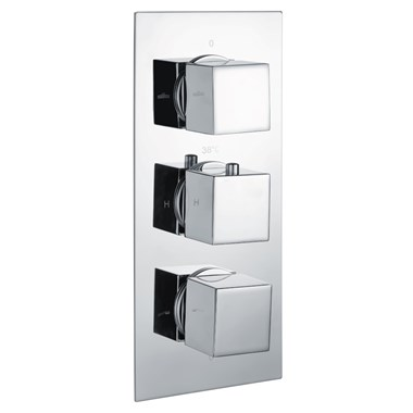 Vellamo Blox 2 Outlet Concealed Thermostatic Shower Valve