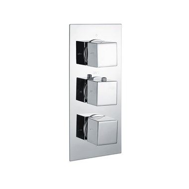 Vellamo Blox 3 Outlet Concealed Thermostatic Shower Valve
