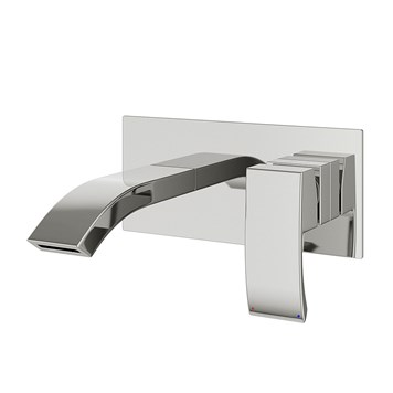 Vellamo City Wall Mounted Bath & Basin Mixer - Chrome