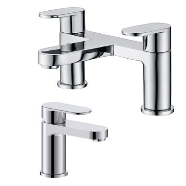 Vellamo Connect Basin Mixer & Bath Filler Pack