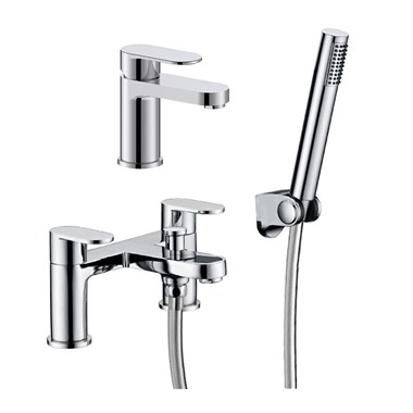 Vellamo Connect Basin Mixer & Bath Shower Mixer Pack