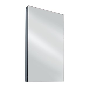 Vellamo Stainless Steel Mirrored Corner Cabinet