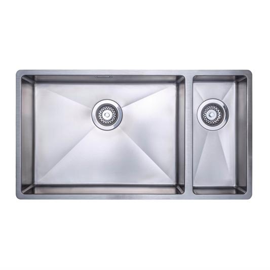 Vellamo Designer 1 5 Bowl Undermount Stainless Steel Kitchen Sink Waste Kit 800 X 440mm Tap Warehouse