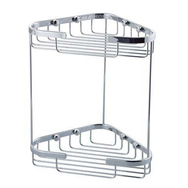 Vellamo Double Triangular Corner Shower Basket
