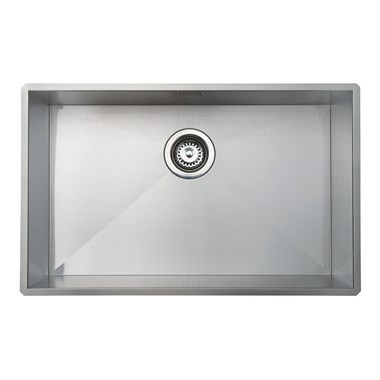 Vellamo Edge Extra Large 1 Bowl Undermount Stainless Steel Kitchen Sink & Waste Kit - 730 x 430mm
