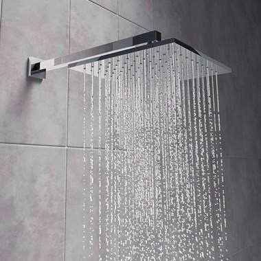 Vellamo Forte 200mm ABS Fixed Shower Head & Arm