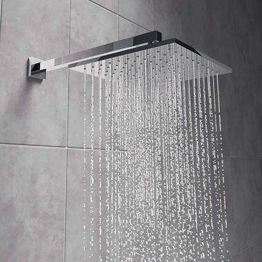 Vellamo Forte Square ABS Fixed Shower Head 200mm
