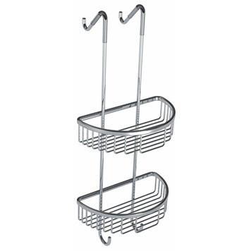 Vellamo Hanging Double Round Soap Basket