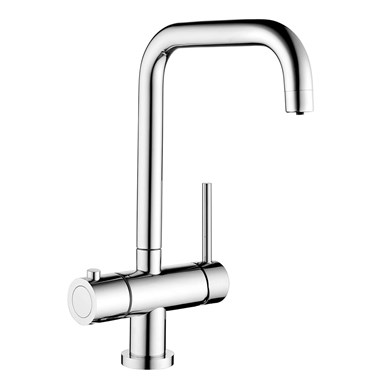 Vellamo Kaffe 3-in-1 Instant Hot Water Tap with Boiler Unit & Filter - Polished Chrome