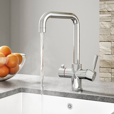 Vellamo Kaffe 3-in-1 Instant Hot Water Tap with Boiler Unit & Filter