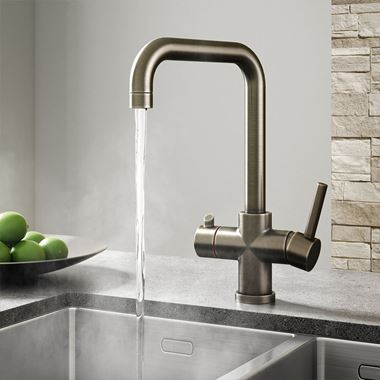Vellamo Kaffe 3-in-1 Instant Hot Water Tap with Boiler Unit & Filter - Gunmetal Grey