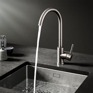 Vellamo Kara Gunmetal Grey Mono Kitchen Mixer and Complete Filter Kit