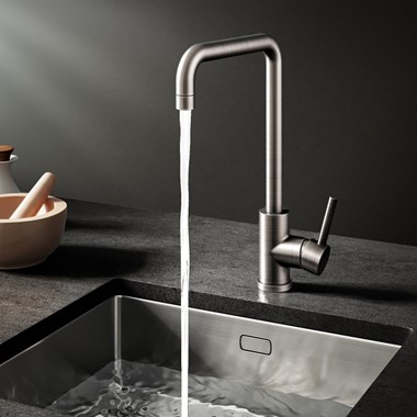 Vellamo Koro Single Lever Mono Kitchen Mixer - Gunmetal Grey