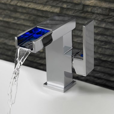Vellamo LED Waterfall Small Basin Mixer Tap