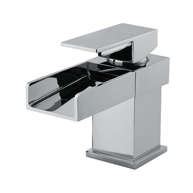 Vellamo Maya Waterfall Basin Mixer with Clicker Waste