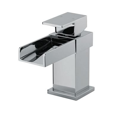 Vellamo Maya Mini Waterfall Basin Mixer with Clicker Waste