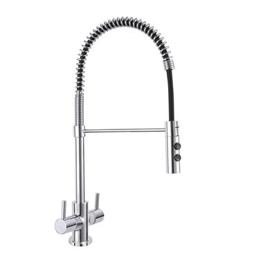 Vellamo Mini Pro Kitchen Mixer Tap with Pull Out Spout - Polished Chrome