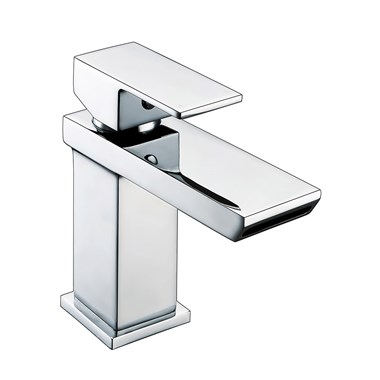 Vellamo Relate Waterfall Basin Mixer with Clicker Waste