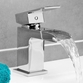 Vellamo Reve Waterfall Basin Mixer Tap with Clicker Waste