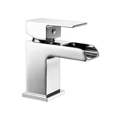 Vellamo Reve Mini Cloakroom Waterfall Basin Mixer with Clicker Waste