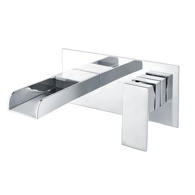 Vellamo Reve Wall Mounted Waterfall Basin Mixer