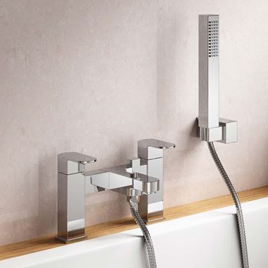 Vellamo Reveal Bath Shower Mixer with Shower Kit