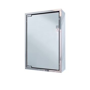 Vellamo Stainless Steel Mirrored Cabinet