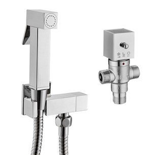 Vellamo Square Douche Kit with Thermostatic Mixing Valve