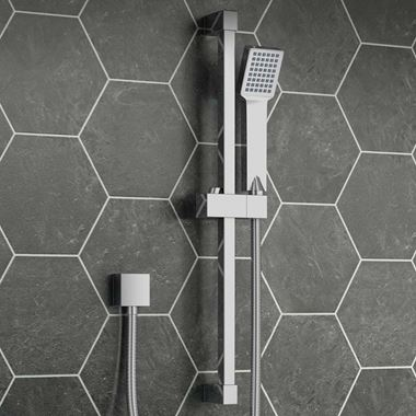 Vellamo Square Shower Riser Rail Kit