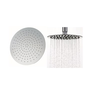Vellamo Thin Round Fixed Shower Head - 400mm
